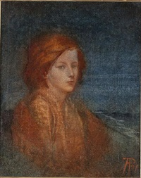 portrait of a girl by phoebe anna traquair