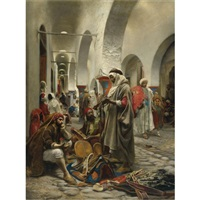 the souk des étoffes, tunis by anton robert leinweber