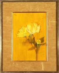 yellow flower by lamar briggs