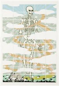 esqueleto con muro detras (in 50 parts) by marco arce