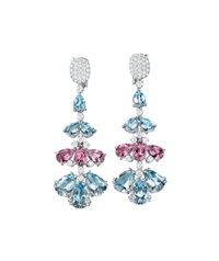 aquamarine, pink tourmaline, and diamond ear pendants (pair) by margherita burgener