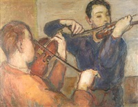 the violin players by bernard gussow