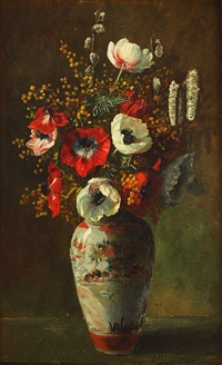 blumen in vase by johannes evert hendrik akkeringa