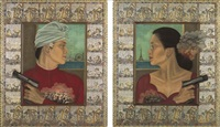 ladies of peace (diptych) by astari rasjid