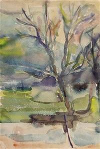 landschaft mit bäumen by margret bilger-breustedt