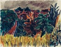 vue de village by jean dufy