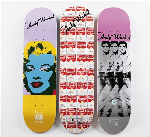 iconic collection skate decks 3 works by andy warhol