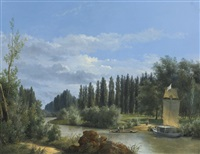 view of the park of château de neuilly by robert léopold leprince