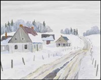 winter near georgeville by gordon edward pfeiffer