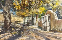 gates of the sanctuario, chimayo by james kramer