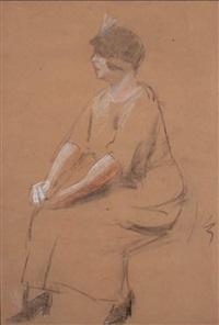 oturan kadın by namik ismail