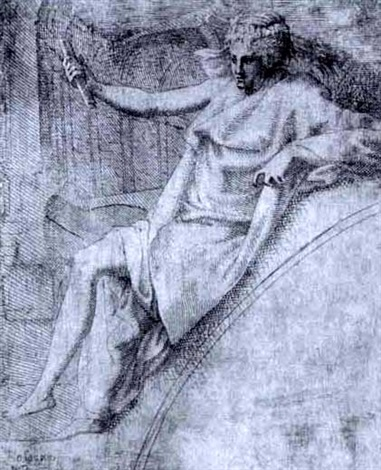 thalia (after primaticcio) by leonard thiry