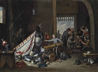 un corps de garde by thomas van apshoven
