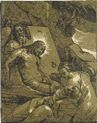 the entombment (after raffaellino da reggio) by andrea andreani