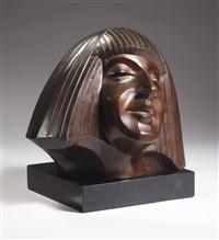 head of darja collin (1902-1967) by chris agterberg