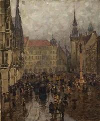 marienplatz in münchen by charles vetter