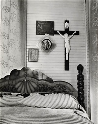 bedroom, shrimp fisherman's house, biloxi, mississippi by walker evans