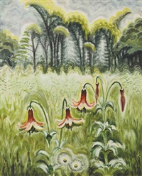 wood lilies by charles ephraim burchfield