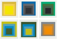 formulation articulation i and ii (set of 127) by josef albers