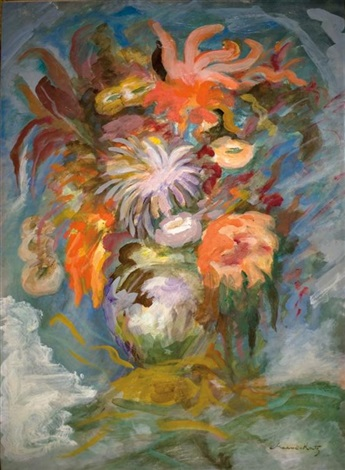 bouquet of flowers by mané katz