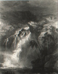 a highland waterfall by henry gastineau