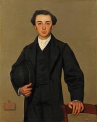 portrait de jeune homme by auguste barthelemy glaize