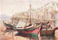 harbour scene by antonis kanas