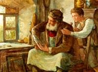 de meester en zijn leerling / de kunstkenners by edouard verschaffelt