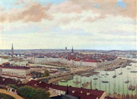vy över stockholm (view of stockholm) by axel otto morner