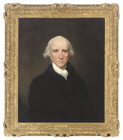portrait of warren hastings governor general of bengal in a blue coat and white stock by lemuel francis abbott