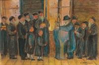 célébration dans une synagogue by artur markowicz