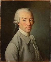 portrait de gentilhomme en costume gris by nicolas benjamin delapierre