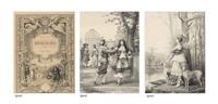 les oeuvres de molière (album w/17 works) by jacques edmond leman