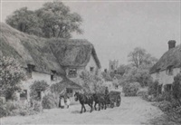 a somersetshire village by alfred robert quinton