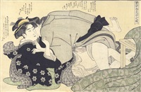 shunga (oban yoko-e) by katsukawa shunsho