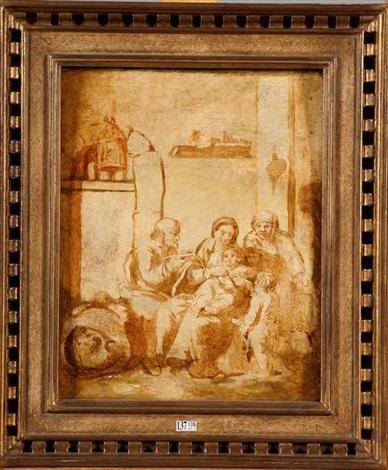 la sainte famille sketch by johann liss