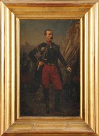 le général de division espinasse, aide de camp de l'empereur napoléon iii, en pied, portant ses décorations by jules rigo