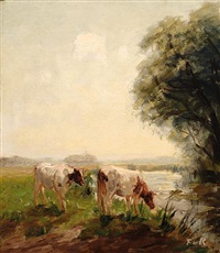 cows along a ditch by fedor van kregten