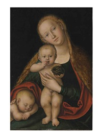 the virgin and child with infant saint john the baptist sleeping by lucas cranach the younger