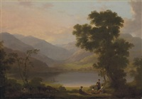 a view in the lake district by joseph rhodes