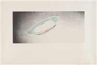 plate (from domestic tranquility series) by ed ruscha