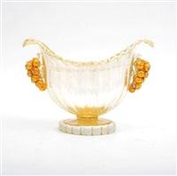 fine & rare console bowl by artisti barovier