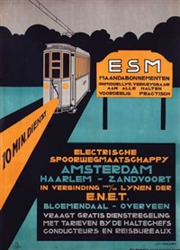 esm electrische spoorwegmaatschappy amsterdam haarlem-zandvoort by jan kreijnen