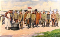 soldiers of the russian army by f. kreisinger