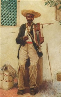 a negro playing the fiddle by noel denholm davis