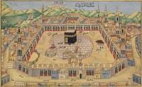 vue de la kaba à la mecque by omar al-daghestani