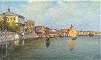 canal scene, venice by eugenio benvenuti