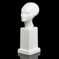 bust of egyptian head on pedestal by wedgwood