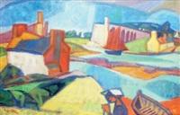 le pont coupé (rivière d'etel) by yves alix