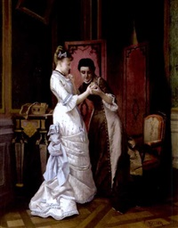 the fiancé's portrait by pierre emile a. veyssier
